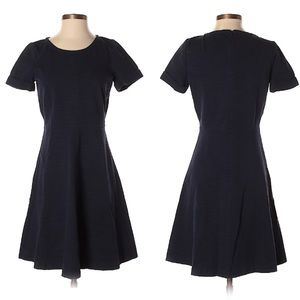 J. Crew Navy Fit and Flare Dress, 6